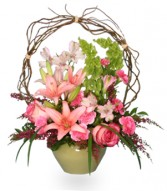 TRELLIS FLOWER GARDEN Sympathy Arrangement in Edison, NJ | E&E FLOWERS AND GIFTS