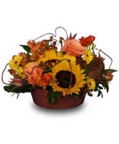 SUNFLOWER SENSATION Centerpiece in Hillsboro, OR | FLOWERS BY BURKHARDT'S