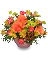BRIGHT FLOR-ESSENCE Arrangement in Walpole, MA | VILLAGE ARTS & FLOWERS