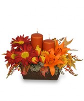 ABUNDANT BEAUTY Fall Centerpiece in Rochester, NH | LADYBUG FLOWER SHOP, INC.