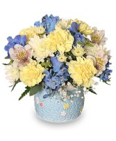 BABY BOY BLOOMS Floral Arrangement in Catonsville, MD | BLUE IRIS FLOWERS