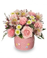 BABY GIRL BLOOMS Floral Arrangement in Pembroke, MA | CANDY JAR AND DESIGNS IN BLOOM