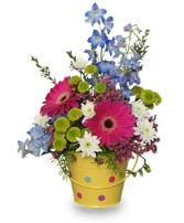 WHIMSICAL FLOWERS Arrangement in Roanoke, VA | BASKETS & BOUQUETS FLORIST
