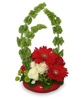 BLISSFUL BELLS OF IRELAND Bouquet in Bracebridge, ON | CR Flowers & Gifts ~ A Bracebridge Florist