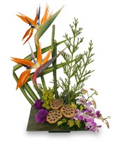 PARADISE GARDEN Floral Arrangement in Great Falls, MT | PURPLE CAT CREATIONS