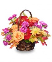 GARDEN CRESCENDO Floral Basket in Prospect, CT | MARGOT'S FLOWERS & GIFTS