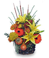 AUTUMN MEADOWS Flower Basket