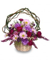 LOVEABLE LAVENDER Basket in Worcester, MA | GEORGE'S FLOWER SHOP
