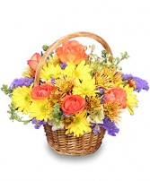 HARVEST HARMONY  Flower Basket in San Antonio, TX | HEAVENLY FLORAL DESIGNS