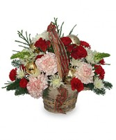 HEART-WARMING HOLIDAY Flower Basket in Katy, TX | KD'S FLORIST & GIFTS