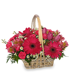 Best Wishes Basket of Fresh Flowers