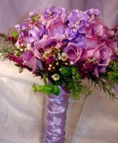 Shades of Purple and Lilac Bridesmaid Bouquet in Oakdale, MN | CENTURY FLORAL & GIFTS