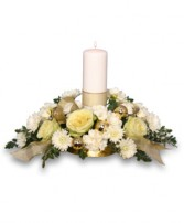 IVORY LIGHT CENTERPIECE Floral Arrangement in Hillsboro, OR | FLOWERS BY BURKHARDT'S