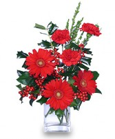 HOLLY JOLLY HOLIDAY Christmas Flowers in Worthington, OH | UP-TOWNE FLOWERS & GIFT SHOPPE