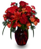 RUBY RED REGALIA Festive Flowers in West Hills, CA | RAMBLING ROSE FLORIST
