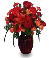 RUBY RED REGALIA Festive Flowers