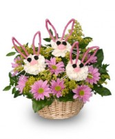 SOMEBUNNY LOVES YOU! Basket of Flowers in Prospect, CT | MARGOT'S FLOWERS & GIFTS