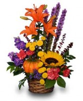 SUNNY PUMPKIN SURPRISE! in Burton, MI | BENTLEY FLORIST INC.
