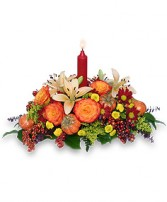 FALL FIESTA Centerpiece in Jasper, IN | WILSON FLOWERS, INC