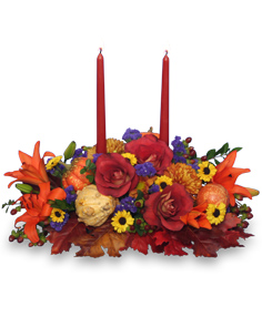 LET US GIVE THANKS Floral Centerpiece