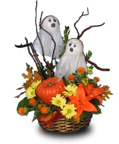 BOO!! Flower Basket in Sutton, MA | POSIES 'N PRESENTS