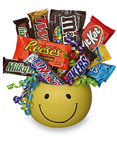 CANDY BOUQUET Gift Basket in Redwood City, CA | PARADISE FLOWERS & GIFTS