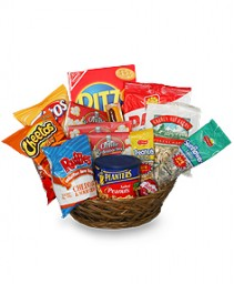 SALTY SNACKS BASKET Gift Basket in Hamden, CT | LUCIAN'S FLORIST & GREENHOUSE