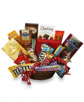 CHOCOLATE LOVERS' BASKET Gift Basket in New York, NY | TOWN & COUNTRY FLORIST/ 1HOURFLOWERS.COM