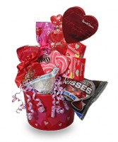 SWEETHEART CANDY PAIL Gift Basket in Dallas, TX | MY OBSESSION FLOWERS & GIFTS