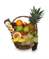 GOURMET FRUIT BASKET Gift Basket in Denver, CO | SIDE EFFECTS UNIQUE FLOWERS & GIFTS