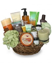 PAMPER ME BASKET Gift Basket in Saint Albert, AB | PANDA FLOWERS (SAINT ALBERT) /FLOWER DESIGN BY TAM