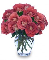 AUTUMN ADORATION Vase of 'Leondis' Roses in Ottawa, ON | MILLE FIORE FLORAL