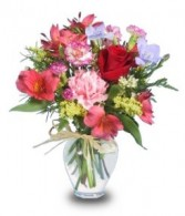FLOWER GARDEN Get Well Vase in West Hills, CA | RAMBLING ROSE FLORIST