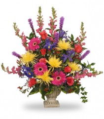 COLORFUL CONDOLENCES TRIBUTE  Funeral Flowers in Parksville, BC | BLOSSOMS 'N SUCH