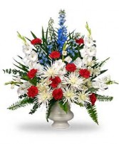 PATRIOTIC MEMORIAL  Funeral Flowers in Catasauqua, PA | ALBERT BROS. FLORIST
