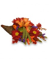 BOUNTIFUL CORNUCOPIA Thanksgiving Bouquet in Caldwell, ID | BAYBERRIES FLORAL