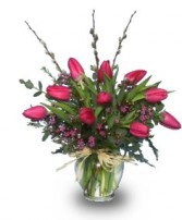 SIMPLY SPRING TULIPS  Floral Arrangement in West Hills, CA | RAMBLING ROSE FLORIST
