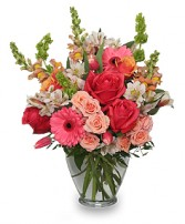 CHERISH SPRING Vase of Flowers in West Hills, CA | RAMBLING ROSE FLORIST