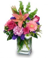SPRINGTIME REWARD Vase of Flowers in Burlington, CT | THE HARWINTON FLORIST