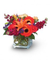 INDIAN SUMMER  Vase of Flowers in Walpole, MA | VILLAGE ARTS & FLOWERS