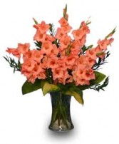 GLORIOUS GLADIOLUS  Flower Vase in Bath, NY | VAN SCOTER FLORISTS 