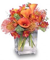 BURNT SIENNA Flower Arrangement in Olathe, KS | THE FLOWER PETALER