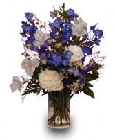BLUE & WHITE IT'S A BOY Flower Vase in New York, NY | FLOWERS BY RICHARD