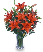 AUTUMN VIBRANCE Lily Arrangement in Jonesboro, AR | HEATHER'S WAY FLOWERS & PLANTS