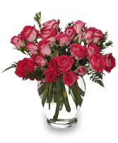 RING AROUND THE ROSES Vase of Spray Roses in Little Falls, NJ | PJ'S TOWNE FLORIST INC
