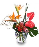 EXOTIC FLORAL VASE of Fresh Flowers in Worcester, MA | GEORGE'S FLOWER SHOP