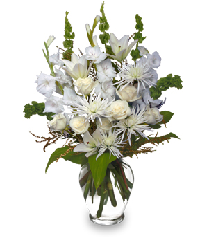 PEACEFUL COMFORT Flowers Sent to the Home in San Leandro, CA | SAN LEANDRO BANCROFT FLORIST & LYNN'S FLORAL