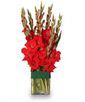 HOLIDAY FLAME Flower Arrangement in Council Bluffs, IA | ABUNDANCE A' BLOSSOMS FLORIST