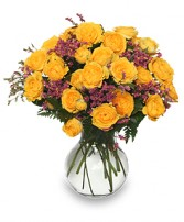 ROSES REJOICE! Golden Yellow Spray Roses in Mcleansboro, IL | ADAMS & COTTAGE FLORIST
