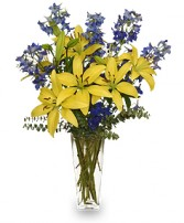 BLUE BONNET Floral Arrangement in West Islip, NY | TOWERS FLOWERS
